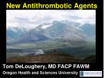 New Antithrombotic Agents