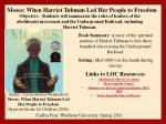 Links to LOC Resources: Abolition & Slavery Accounts Slaves and the Courts