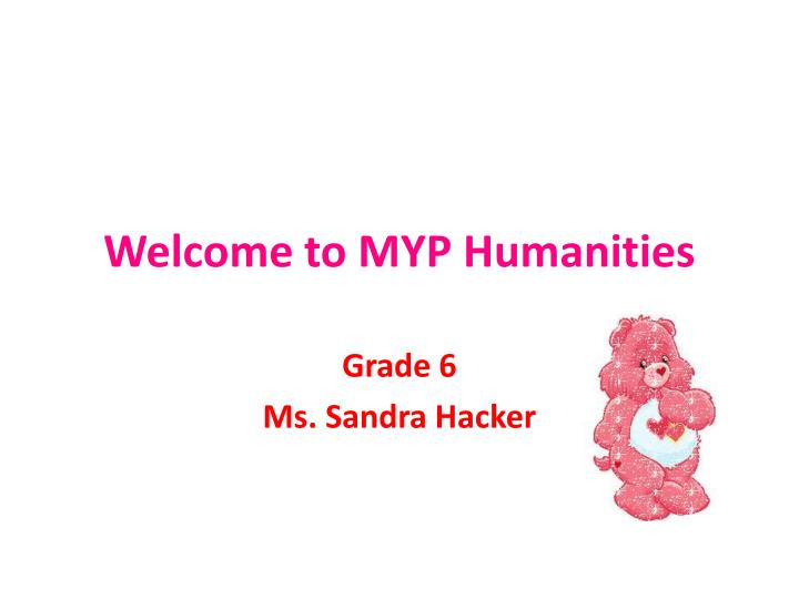 welcome to myp humanities n.