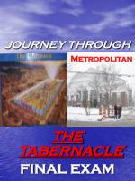 JOURNEY THROUGH THE TABERNACLE FINAL EXAM