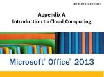 Appendix A Introduction to Cloud  Computing