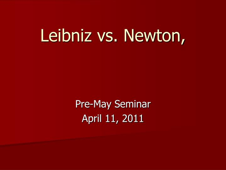 leibniz vs newton n.