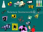 Science homework 