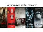 Horror movie poster research