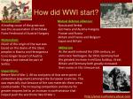 How did WWI start?