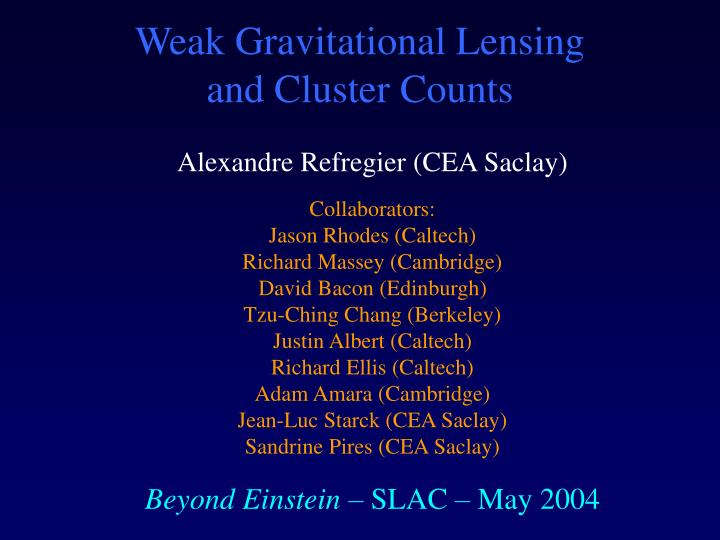 weak gravitational lensing and cluster counts n.