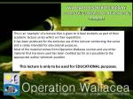 WALLACE RESOURCE LIBRARY Lecture  06  –  Endemism and Biodiversity Hotspots