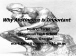 Why Abstinence is Important