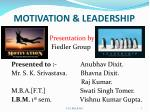MOTIVATION & LEADERSHIP