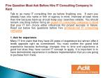 Five Question Must Ask Before Hire IT Consulting Company In
