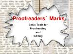 Proofreaders ' Marks