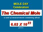 MOLE DAY Celebration