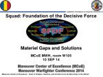 Maneuver Center of Excellence ( MCoE ) Maneuver Warfighter Conference 2014