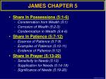JAMES CHAPTER 5