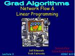 Network Flow &  Linear Programming