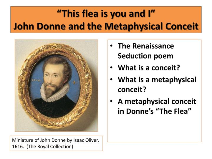 this flea is you and i john donne and the metaphysical conceit n.