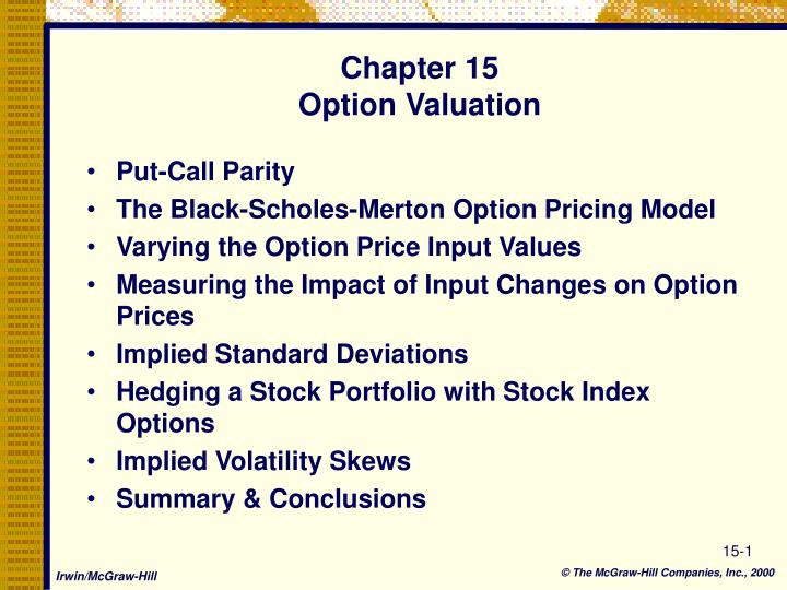 chapter 15 option valuation n.