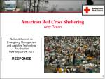 American Red Cross Sheltering Amy Green