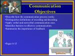 Describe how the communication process works. Distinguishes definitions of encoding and decoding.