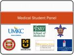 Medical Student Panel