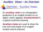 Definition - Auxiliary Views