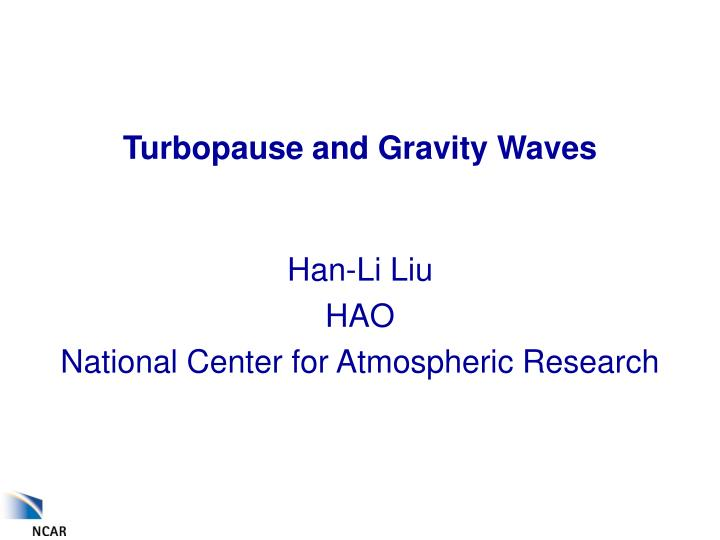 turbopause and gravity waves n.