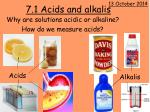 7.1 Acids and alkalis