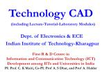 Technology CAD (including Lecture-Tutorial-Laboratory Modules)