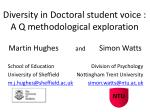 Diversity in Doctoral student voice : A Q methodological exploration