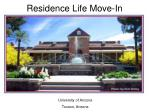 Residence Life Move-In