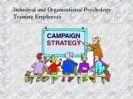 Industrial and Organizational Psychology Training Employees