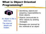 What is Object Oriented Programming?