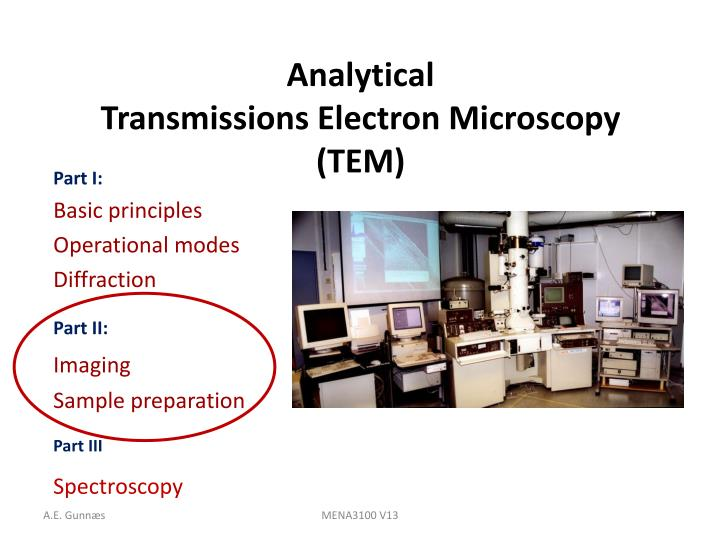 analytical transmissions electron microscopy tem n.