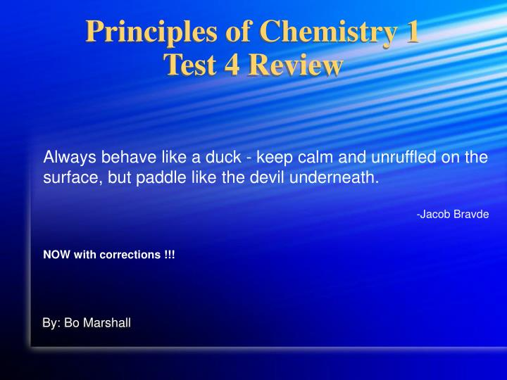 principles of chemistry 1 test 4 review n.