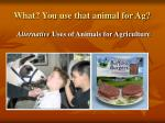 What? You use that animal for Ag?
