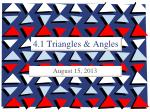 4.1 Triangles & Angles