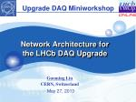 Network Architecture for the LHCb DAQ Upgrade
