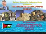 Delivery Systems for Substance Abuse Treatment: THE HASHEMITE KINGDOM OF JORDAN