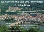 Welcome to the Vxb 2007 Workshop in Heidelberg