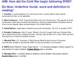 AIM: How did the Cold War begin following WWII?