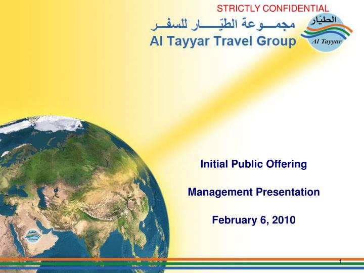 initial public offering management presentation february 6 2010 n.