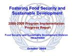 Fostering Food Security and Sustainable Development