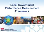 Local Government Performance Measurement Framework