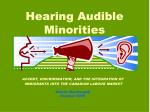 Hearing Audible Minorities