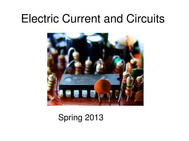 electric current and circuits n.