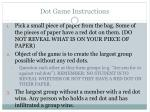 Dot Game Instructions