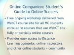 Online Companion: Student's Guide to Online Success
