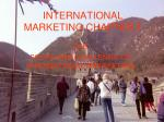 INTERNATIONAL MARKETING CHAPTER 1