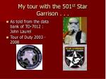 My tour with the 501 st Star Garrison . . .