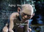 Aging: Modeling Time
